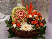 Обучение карвингу ( фигурная резьба по фруктам и овощам) в Караганде.