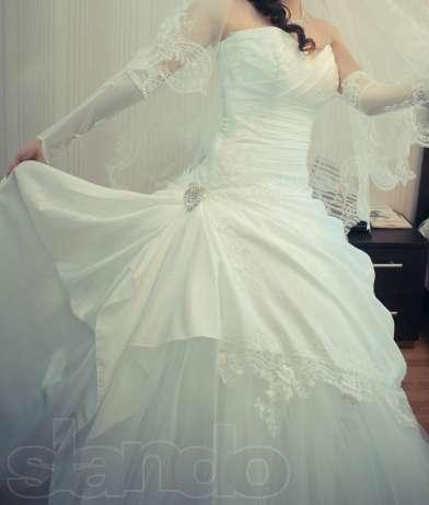 Очень красивое свадебное платье! в Астане - изображение 1