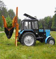 Машины оборудование для пересадки посадки деревьев на базе МТЗ