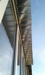 Крыша на балкон с отделкой потолка