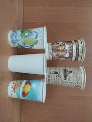 бумажные стаканчики в ассортименте